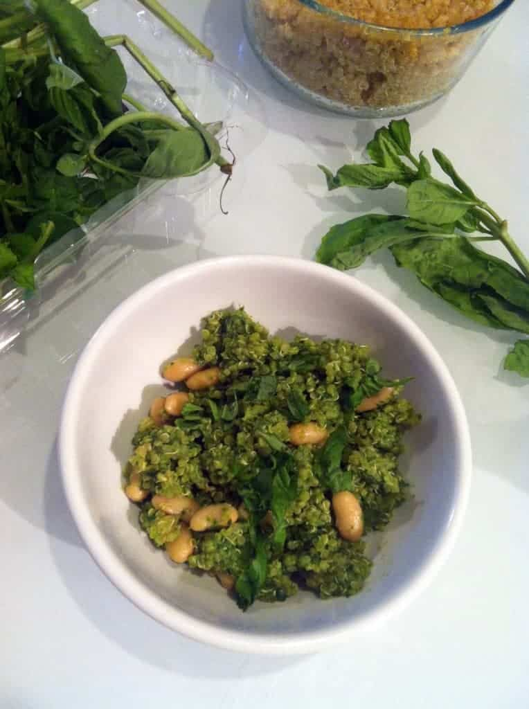 ... oil-free, high-protein pesto-like dip that's loaded with with