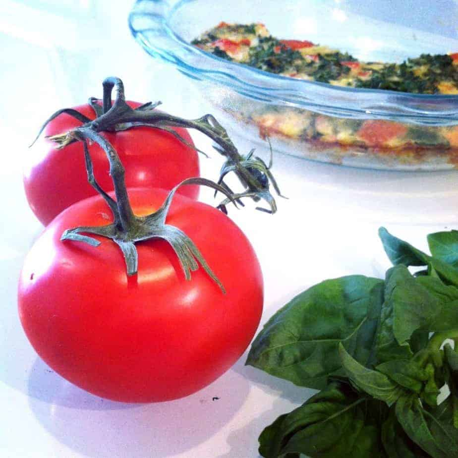 Tomato, Basil and Kale Quiche | Hummusapien