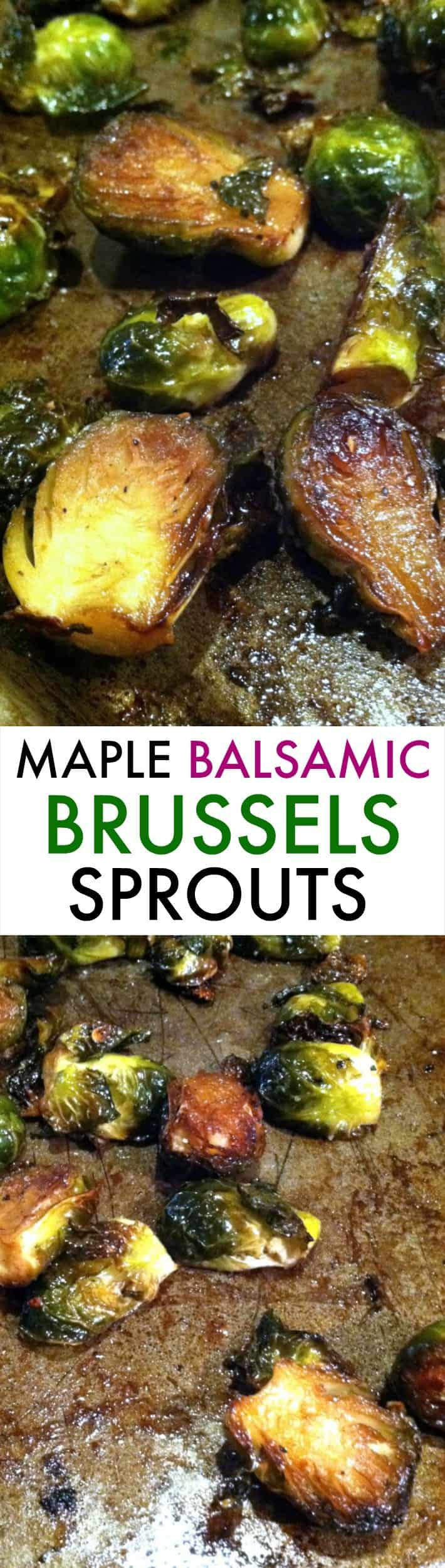 Maple Balsamic Roasted Brussels Sprouts | Hummusapien