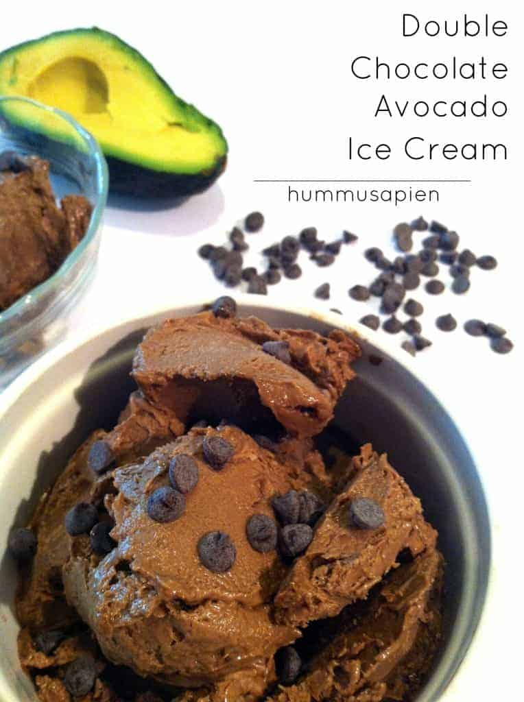 double chocolate avocado ice cream