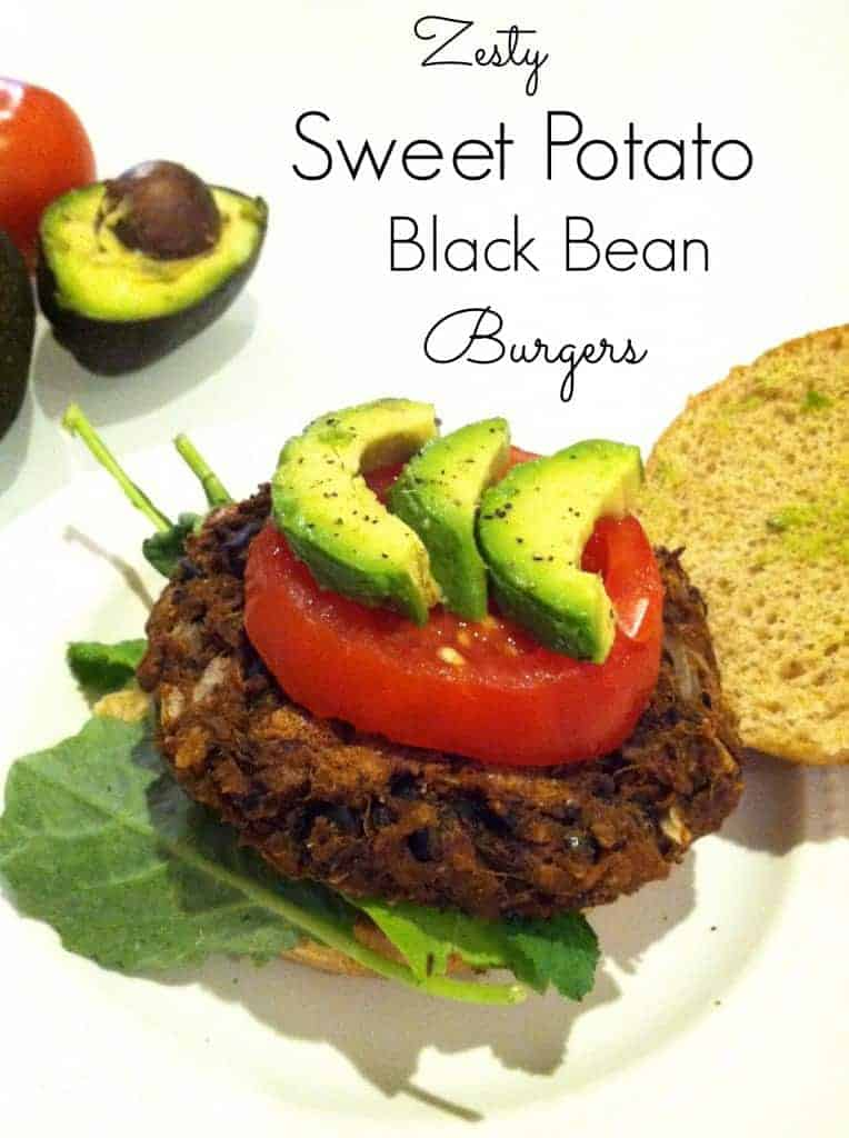 zesty sweet potato burgers