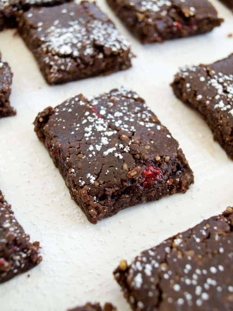 jam filled raw fudge brownies from happy healthy mama