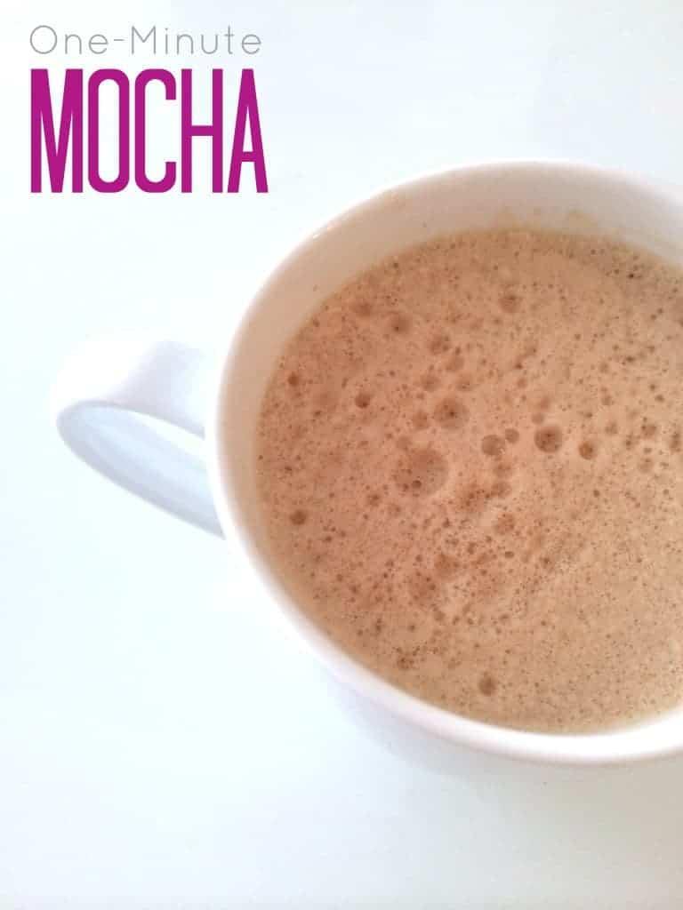 one minute mocha