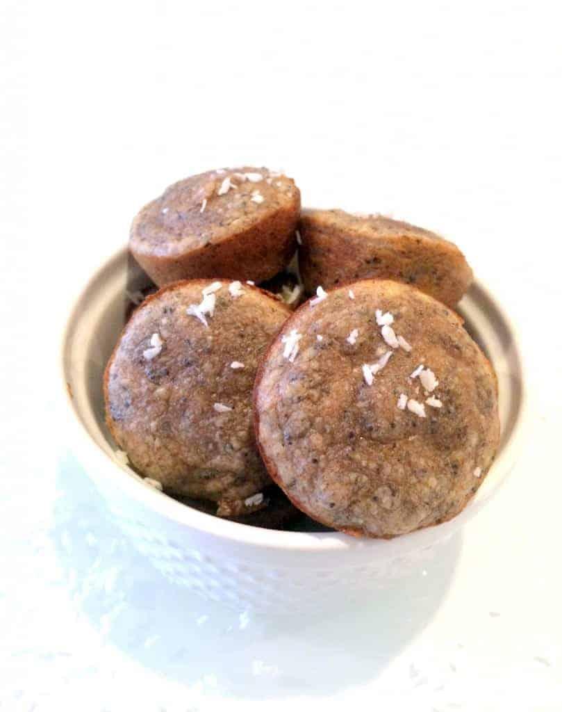 Flourless Lemon Poppyseed Mini Muffins