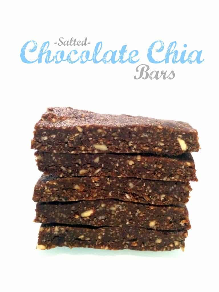 No-Bake Salted Chocolate Chia Bars // hummusapien.com #vegan #glutenfree