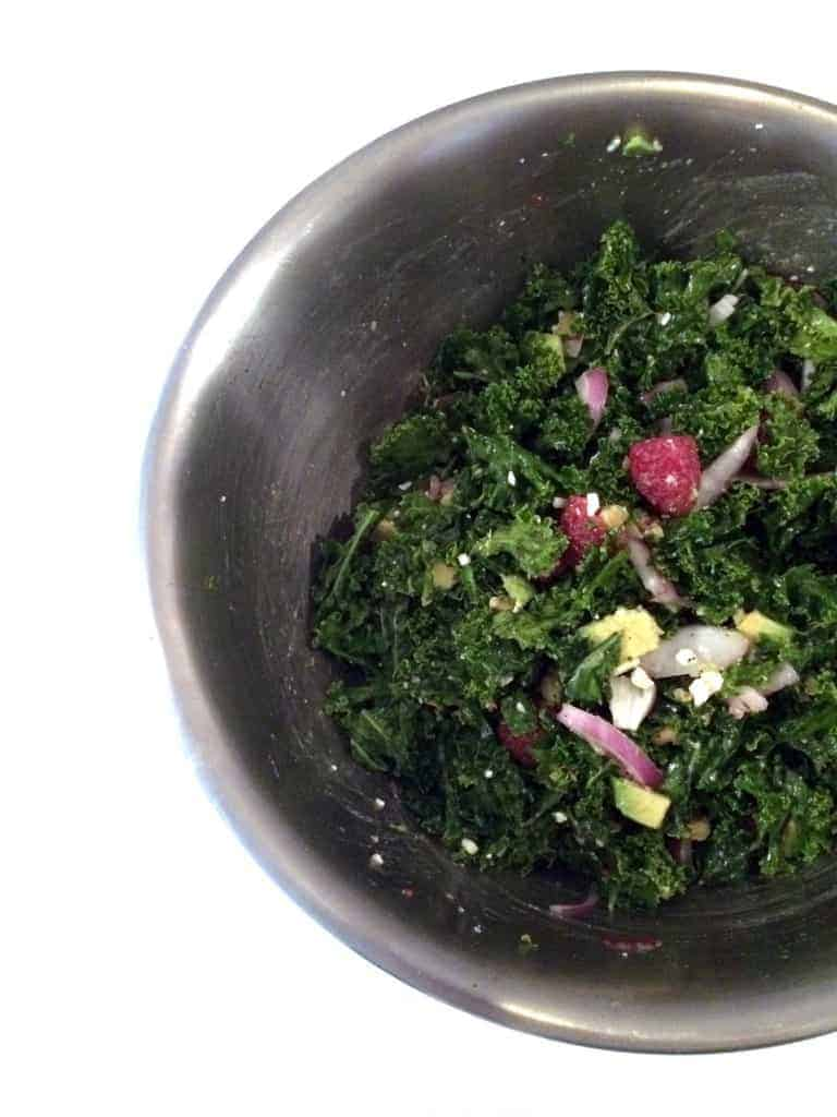 Raspberry Kale Salad 5