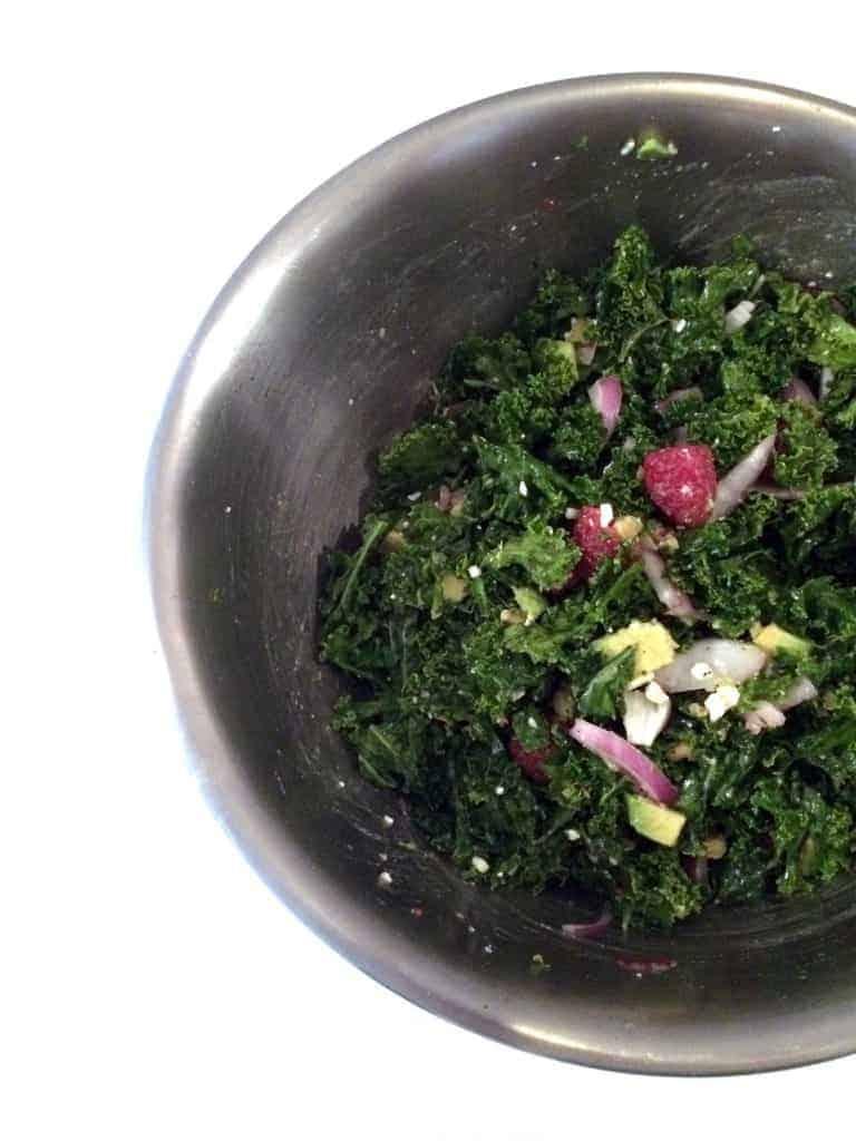 Raspberry Kale Salad 5