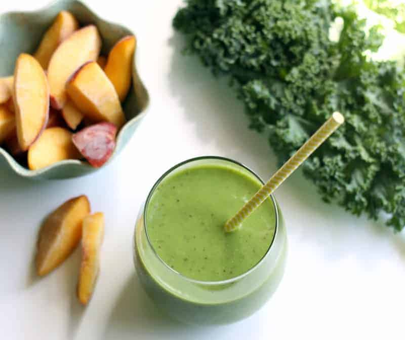 Peachy Pineapple Kale Smoothie