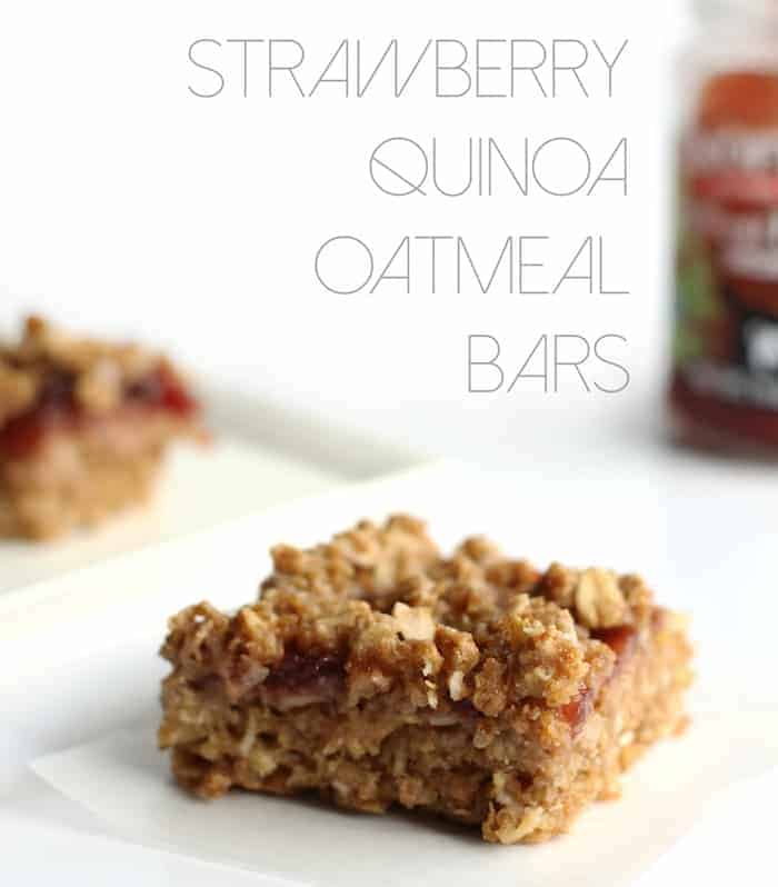 Strawberry Quinoa Oatmeal Bars