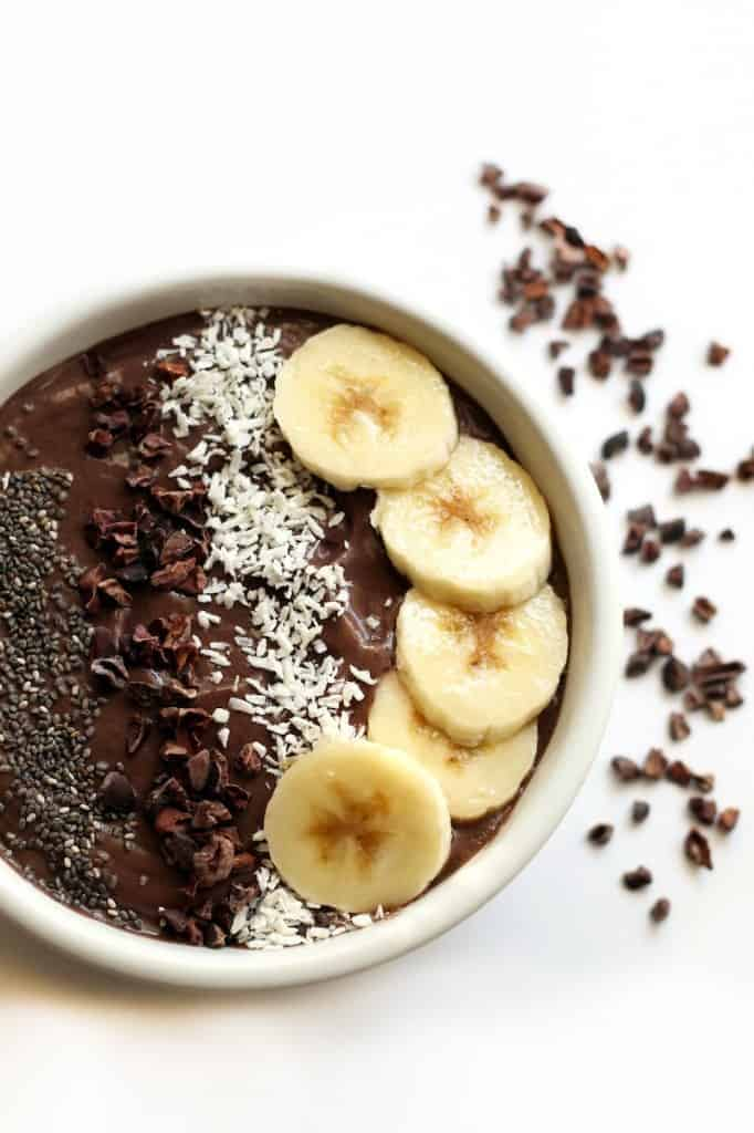 Banana Avocado Cacao Acai Bowl