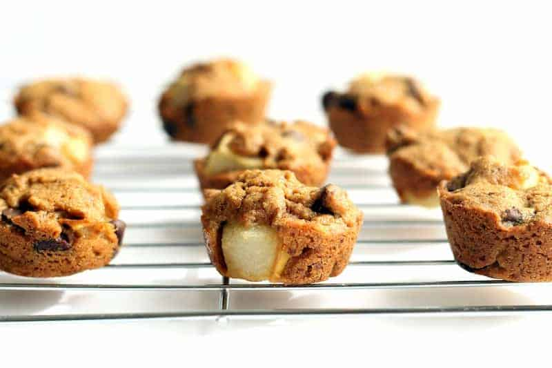 Chocolate Chip Pear Blondie Bites