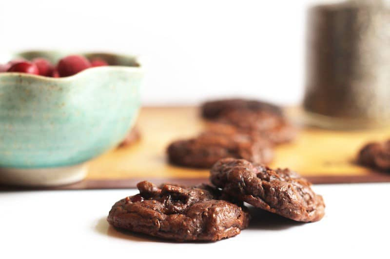 Cranberry Chocolate Chia Cookies (Vegan & Paleo)