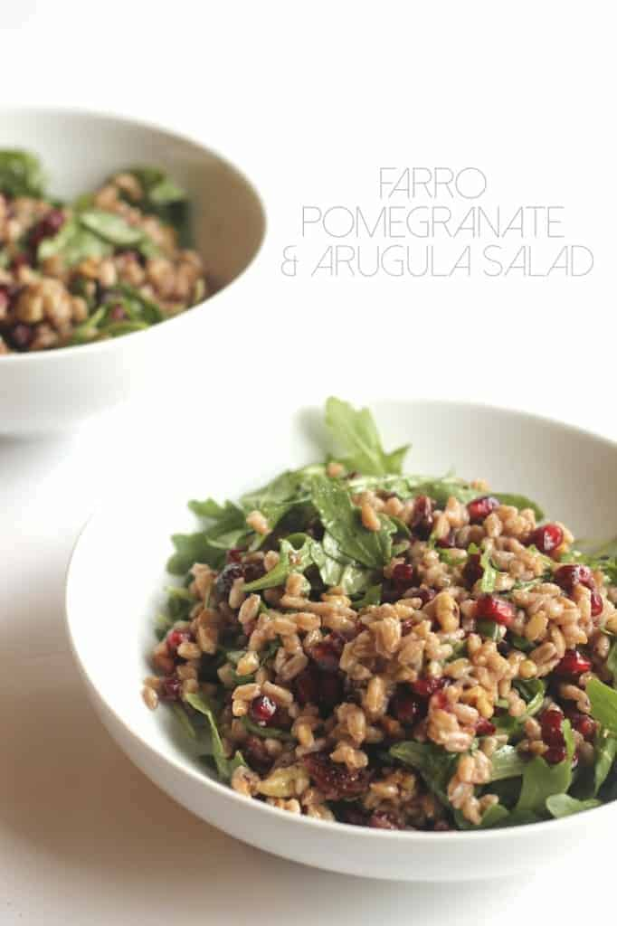 Farro, Pomegranate, and Arugula Salad