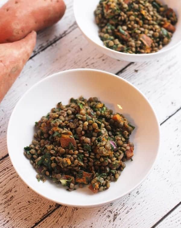 Sweet Potato, Lentil, & Kale Detox Salad
