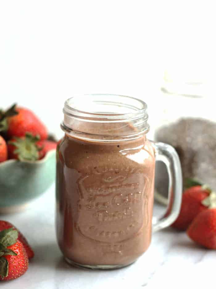Strawberry Chocolate Chia Smoothie