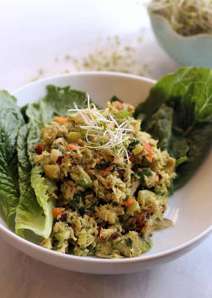Loaded Veggie Avocado Tuna Salad