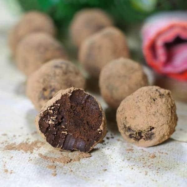 dark chocolate truflles