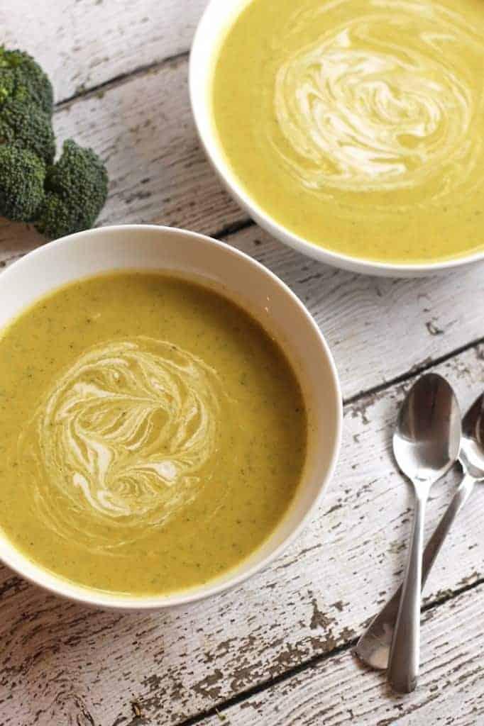 Easy Healthy Vegan Cream Of Broccoli Soup