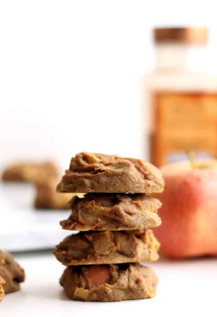 Flourless Apple Cinnamon Chickpea Cookies