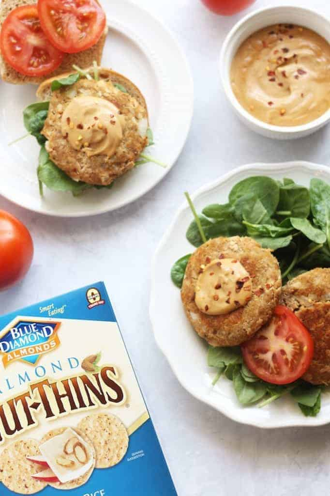 Asian Tuna Burgers with Ginger Soy Cashew Cream