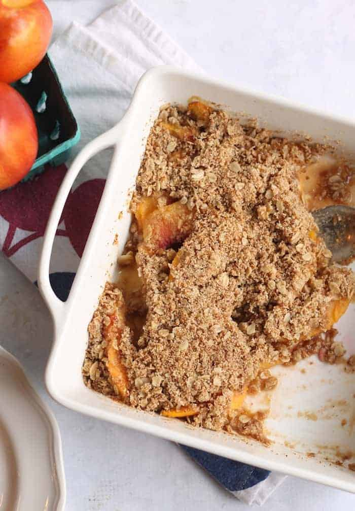 Easy Healthy Peach Crisp