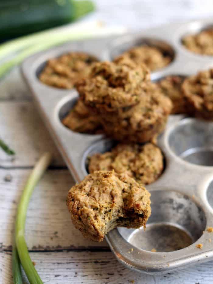 Savory Vegan Zucchini Muffins #vegan #ad