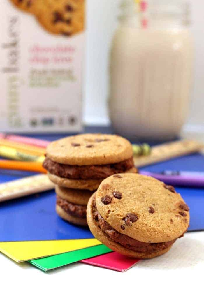 Chocolate Hummus Cookie Sandwiches...a healthier, higher-protein version of the classic!