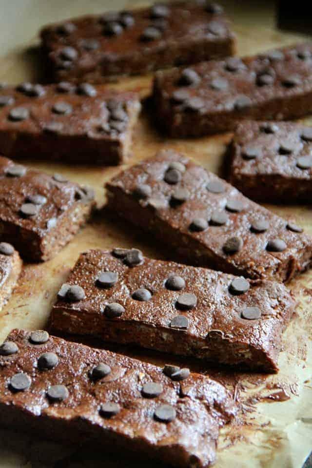 double chocolate fudge protein bars