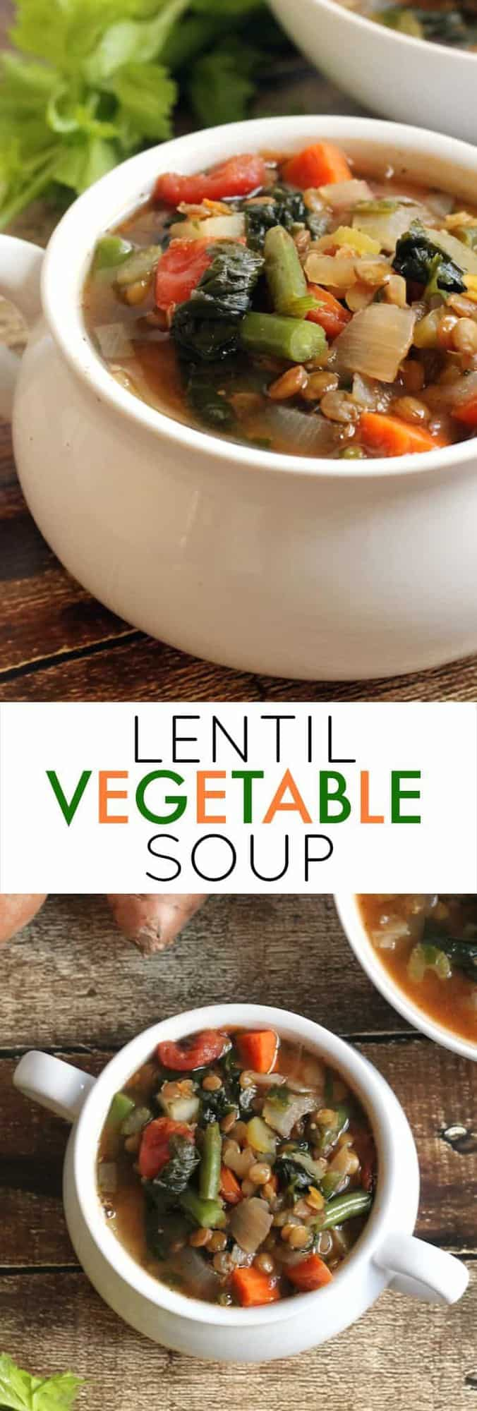 Lentil Vegetable Soup...a hearty, comforting, one-pot meal!