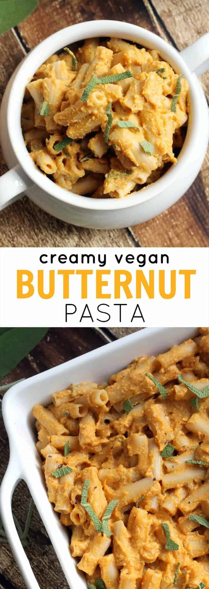 This Vegan Butternut Squash Pasta is a super creamy, comforting, easy, and delicious way to celebrate fall!