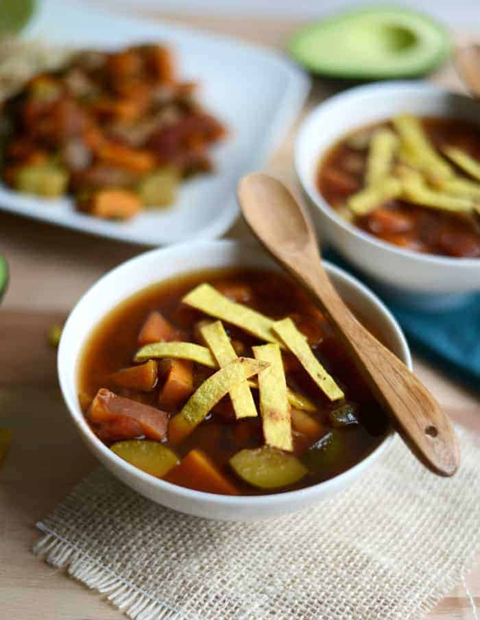 Quick and Easy Black Bean Soup via Ambitious Kitchen