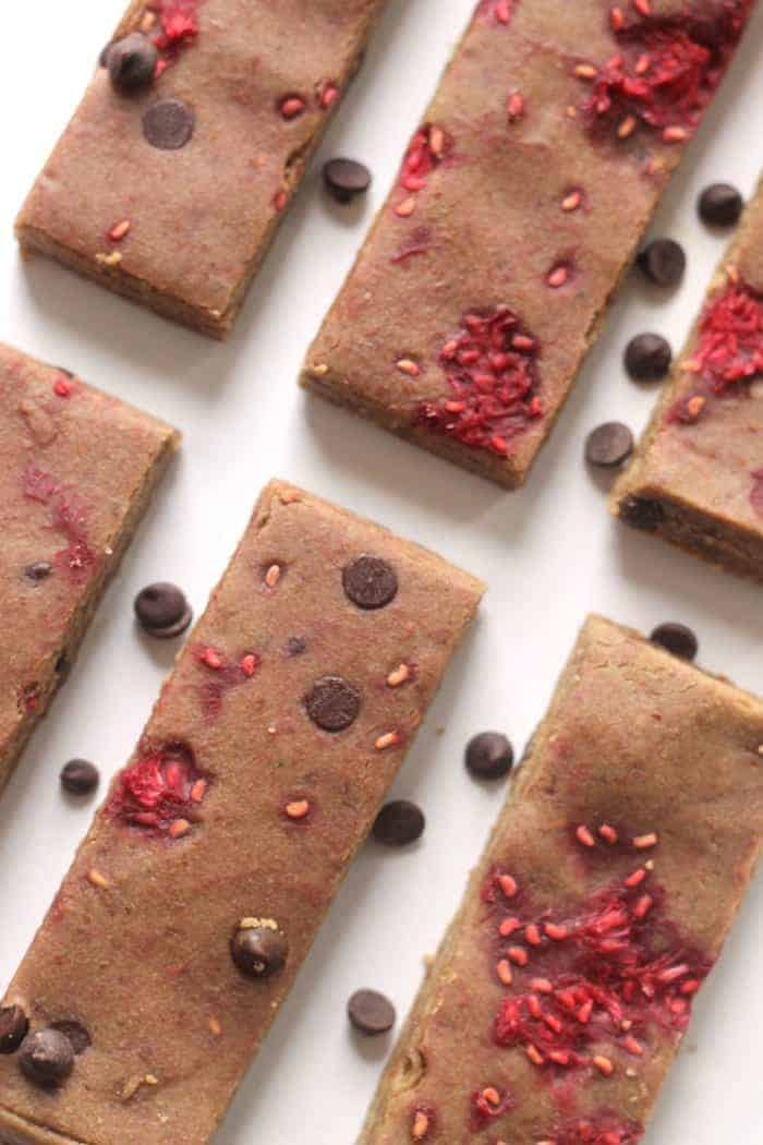 Easy No-Bake Raspberry Protein Bars