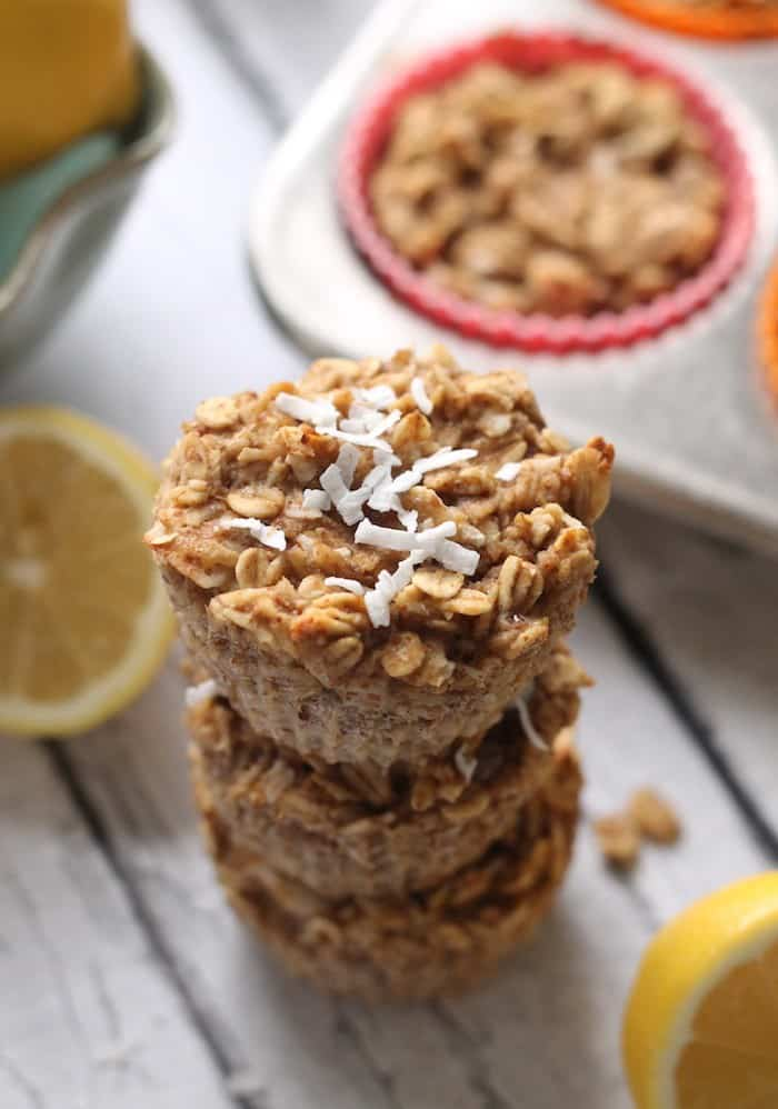 Lemon Coconut Baked Oatmeal Cups | 15 Oatmeal Cups To Stay Healthy During The Cold Months
