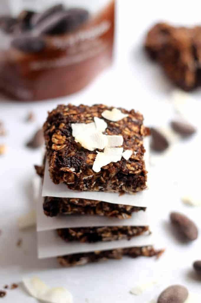 Almond Coconut Snack Bars (vegan + gluten-free)