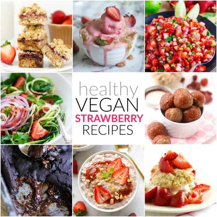 Healthy Vegan Strawberry Recipes