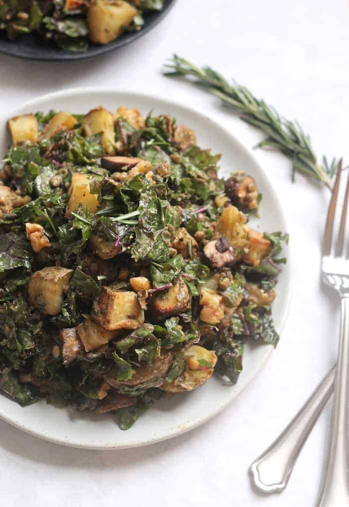 Rosemary Roasted Potato, Lentil, and Mushroom Salad