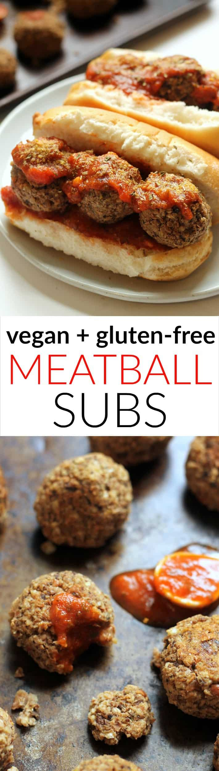 The BEST vegan meatball sub! Loaded with beans, Italian spices, and marinara on a toasty bun. Vegan, gluten-free, and kid-friendly!