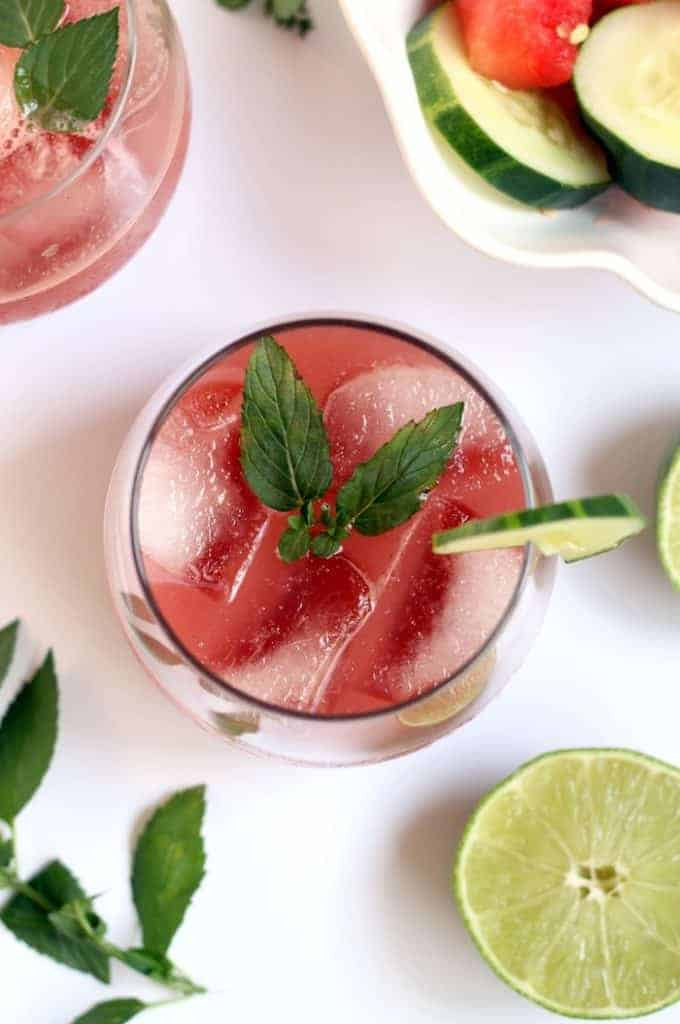 Sip on summer with this cool and refreshing Watermelon Cucumber Mint Cocktail!