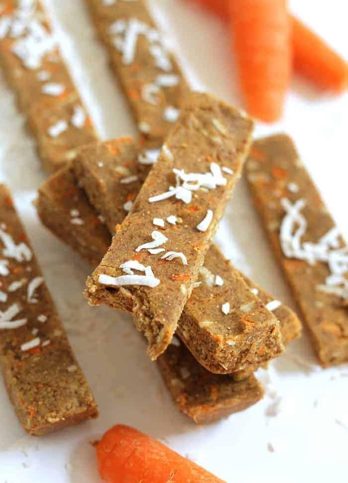 No-Bake Carrot Cake Protein Bars