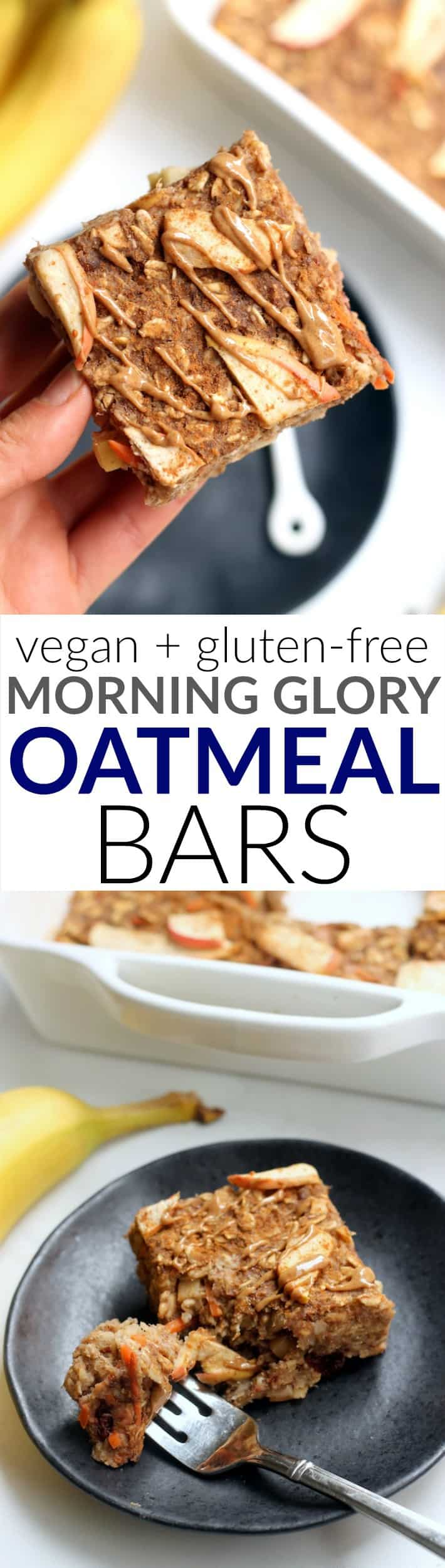 These Morning Glory Baked Oatmeal Bars are a tasty, filling, nutrient-dense breakfast packed with whole grains and warm fall flavors. They also make a great grab-and go snack that