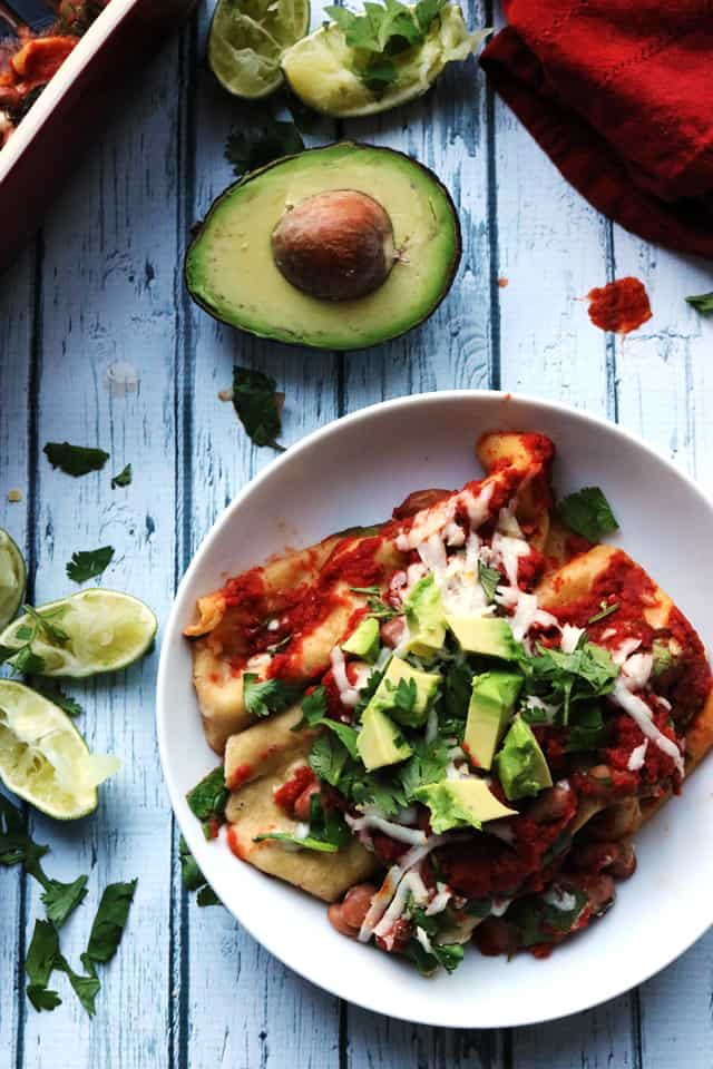 Spinach and Pinto Bean Enchiladas from Eats Well With Others