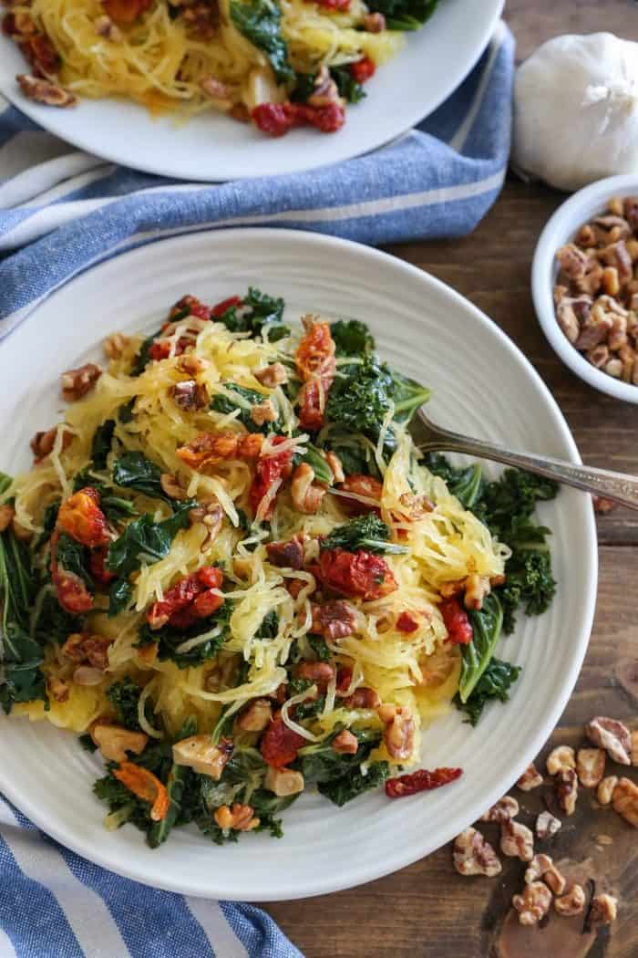 Roasted Garlic and Kale Spaghetti Squash from The Roasted Root