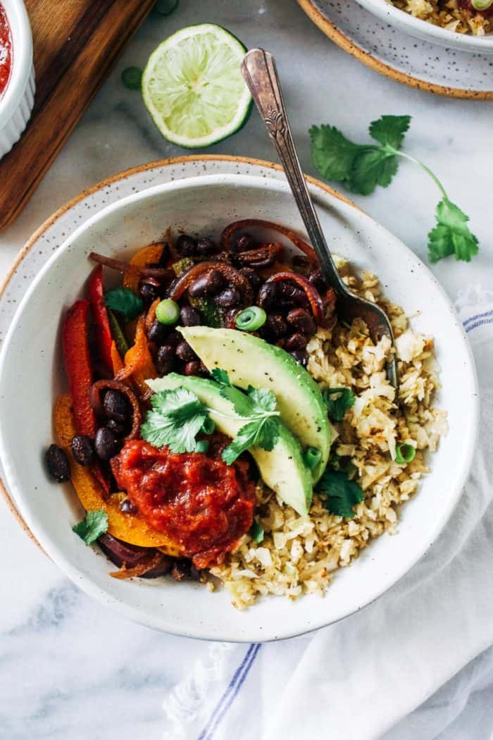 Cabbage Rice Fajita Bowls from Making Thyme for Health