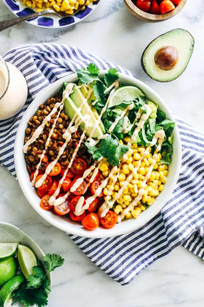 Lentil Taco Salads from Making Thyme for Health