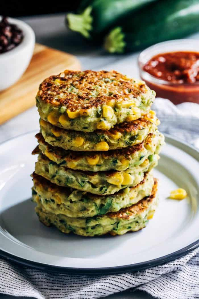 Healthy Zucchini Corn Fritters from Making Thyme for Health