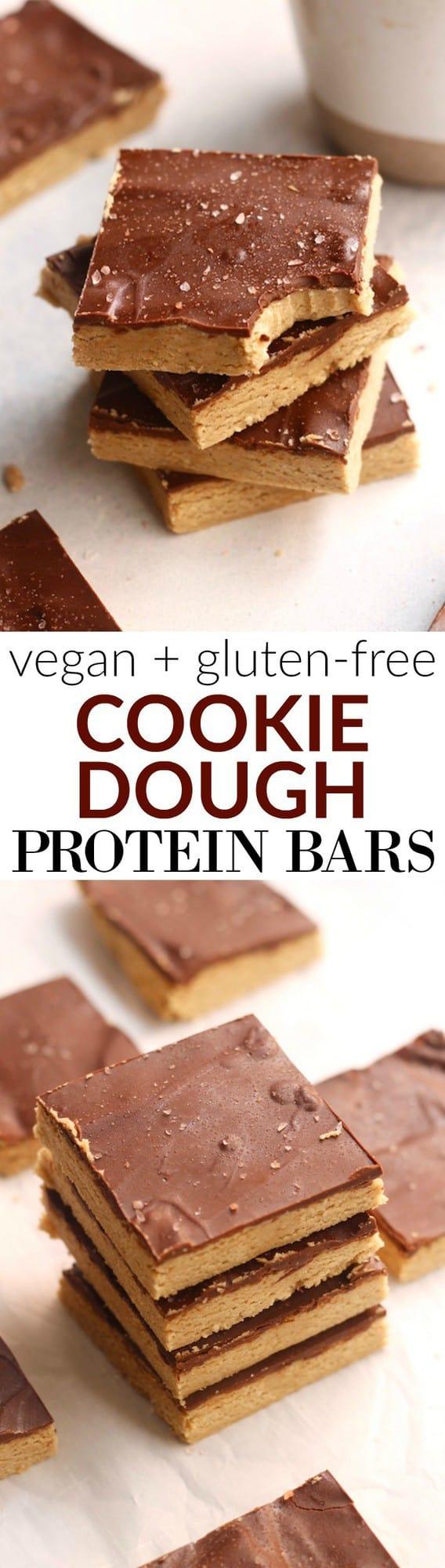 cookie dough protein bars hummusapien