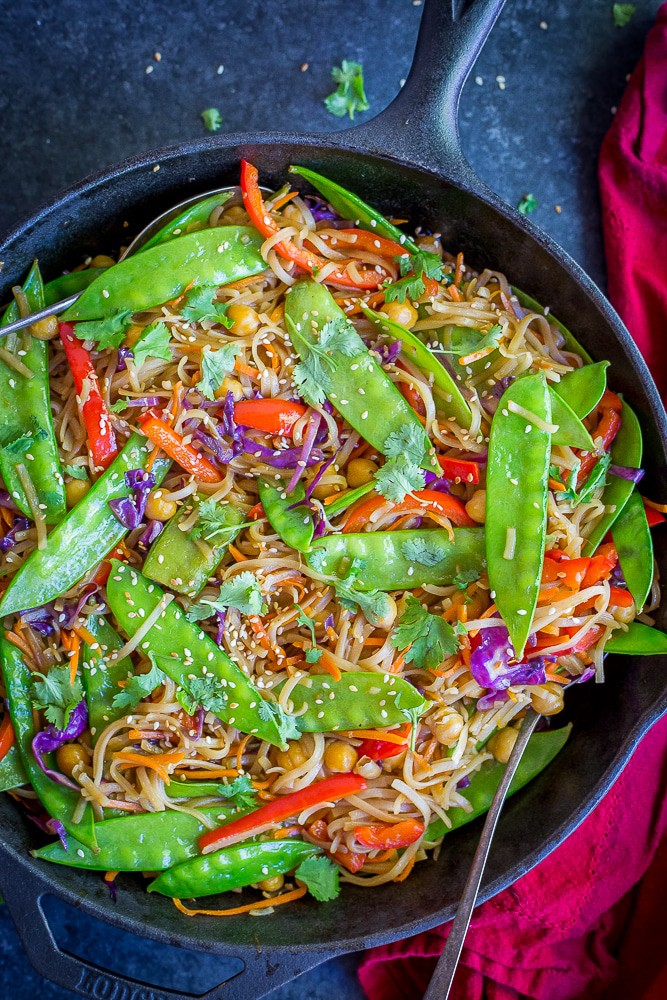 30-Minute Sesame Ginger Noodles with Vegetables from She Likes Food
