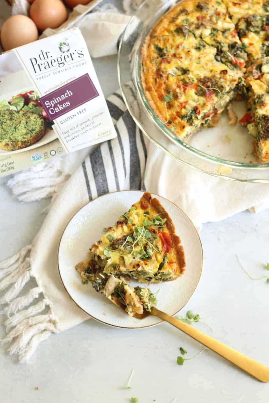 This delicious Mediterranean Vegetable Quiche is a wholesome breakfast, lunch or dinner option! It