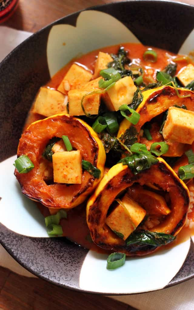 Delicata Squash and Tofu Thai Red Curry from Eats Well With Others