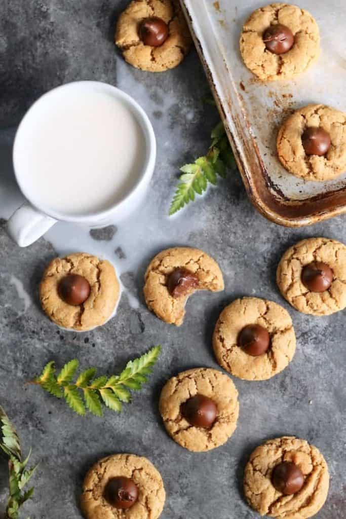 This healthier version of the classic Peanut Butter Blossoms made with whole wheat flour taste just as delicious as the classic!